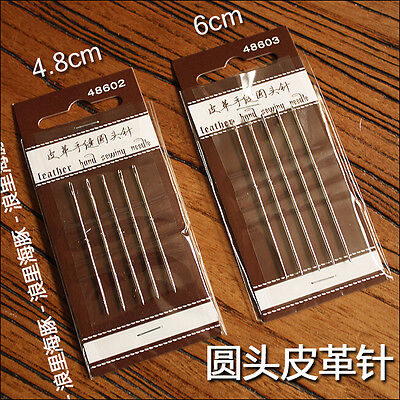 Leather Craft Hand Sewing Needles Round Head Needle Craft DIY Fitting Tool