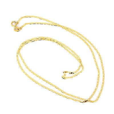 "Solid 14k Yellow Gold 1.2mm Mariner Chain Necklace, 16"" 18"" 20"""