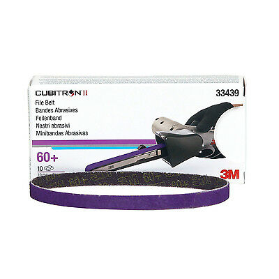 3M Cubitron II File Belt, 10mm x 330mm (3/8 in X 13 in), 60+ grade, 33439 10/Box