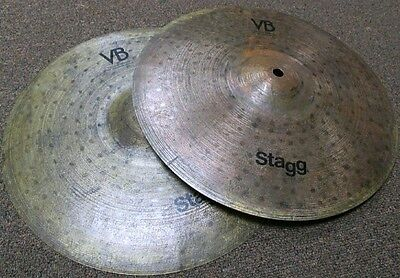 """Stagg 14"""" Vintage Bronze High Hats (Store Demo)"""