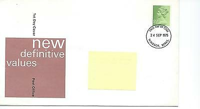 GB - ROYAL MAIL FIRST DAY COVER - FDC - DEFINITIVES -1975- 8.5p value