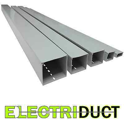 """2"""" x 1"""" Solid Wall Wire Duct - 12 Sticks - Total Feet: 79FT - Gray - Electriduct"""