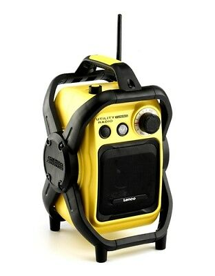 Lenco Worksite Radio UT-1000 - Water Resistant FM Radio