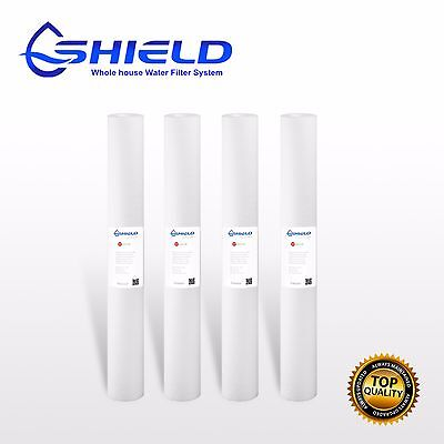 "4 x 5 Micron Water Filter Replacement Sediment Cartridges 20"" x 2.5"" Whole House"