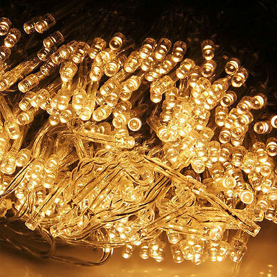 10m Warm White 100 LED 8-Modes String Light Strip Party Chrismas Lamp Bulb 110V