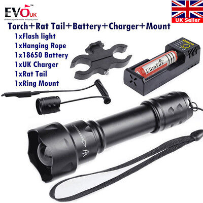 T20 3Modes Led Hunting Light NV Night vision Torch Osram 850NM IR+18650 Battery