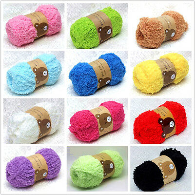 Super Soft Smooth Chunky Double Knitting Wool Yarn Baby Skein Ball 50g