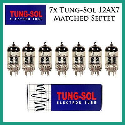New 7x Tung-Sol 12AX7 / ECC83   Matched Septet / Seven Tubes   Reissue