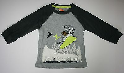 NEW Gymboree Ice All-Star Line Pup Snow Boarder Long Sleeve Tee Size 12-18 M NWT