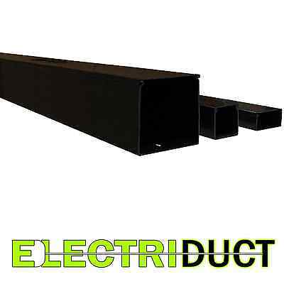 "2"" x 2"" Solid Wall Wire Duct - 12 Sticks -Total Feet: 79FT - Black - Electriduct"