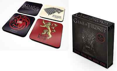 OFFICIAL Game Of Thrones Set Of 4 Coaster /Drinks Mat BY PYRAMID CSP0005