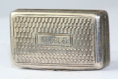 Georgian Antique Sterling Silver Vinaigrette John Shaw