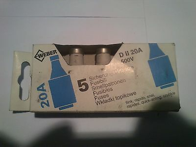 5 Pieces Diazed Fuse 20A