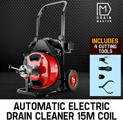 NEW DRAIN MASTER Drain Cleaner Electric Eel Rigid Plumbing Sewerage Pipe Machine