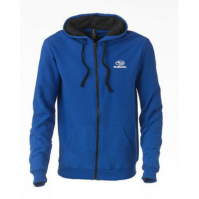 Subaru Blue Basic Fleece Full Zip Forester Impreza WRX STI Hoodie NEW SWEATSHIRT