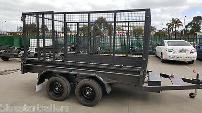 10x6 Tandem Tipper Trailer with cage,ramps,free jockey wheel