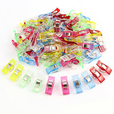 100 Assorted Color Wonder Clips Fabric Clamp Holder Quilting Craft Sewing DIY