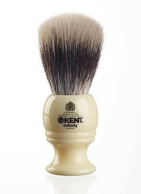 Kent Infinity INF1 Shaving Brush - Fibre Synthetic Bristle - LIFETIME Guarantee!