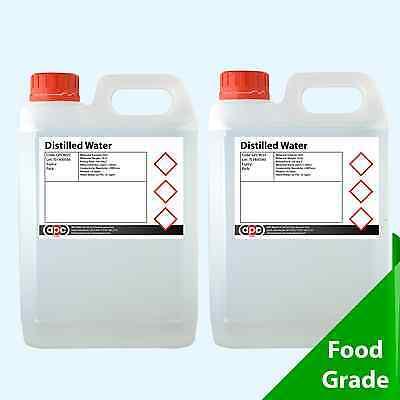 Distilled Water 10 Litres (2 x 5L)  - **Highest Purity & Quality **