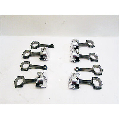 Small Block Chevy Pistons And Rods, 350 Flat Top- 2 Valve Relief, 6.0 Inch Rods