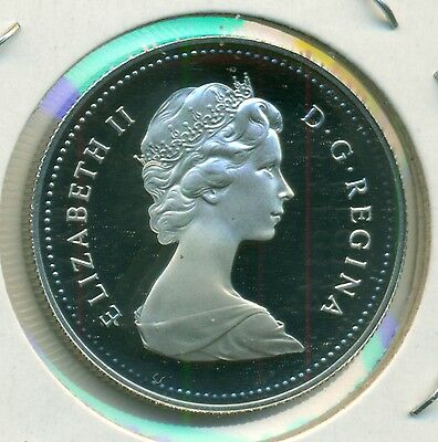 A Beautiful Ultra-Heavy Cameo 1981 Canada Proof 50 Cents From Set, Great Price!