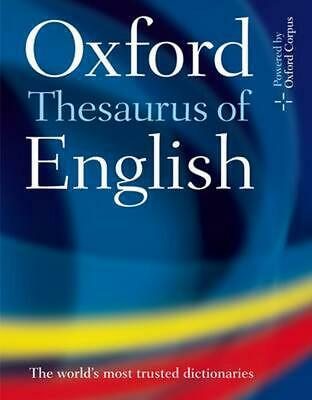 Oxford Thesaurus of English by Oxford Dictionaries (English) Hardcover Book Free