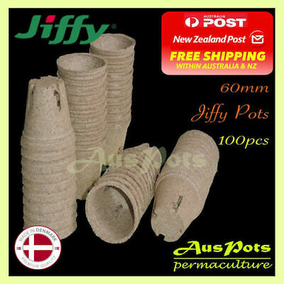 60mm Jiffy Round Pots x 100pcs - EXPRESS POST - Great for Propagation & Seedling