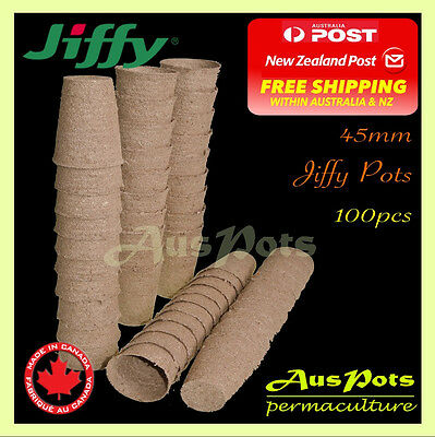 45mm Jiffy Tall Pot Round x 100pc - Vegetable & Herb Propagation