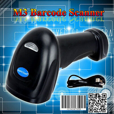 New Automatic USB Laser Scan Barcode Scanner Bar Code Reader Handheld With Cable