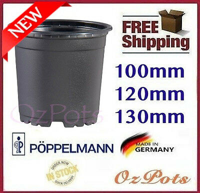 100mm 120mm 130mm Plastic Garden Round Plant Pots - Propagation, Made in Germany