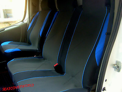 Ford Transit - Blue Motorsport Van Seat Covers - Single + Double