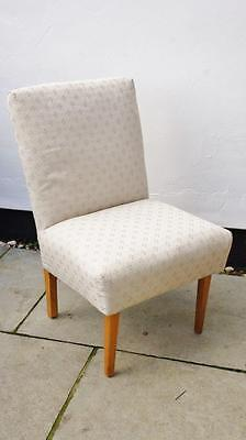 Vintage 40's/50's  nursing chair, overstuff spring seat re upholstered - VGC