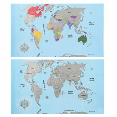 Large Scratch Off Countries World Map Travel Atlas Log Maps
