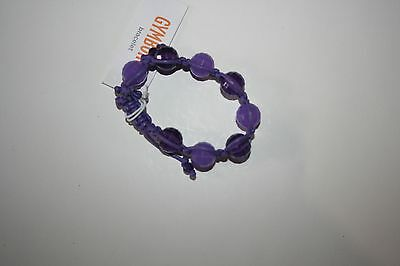 New Gymboree Purple Bauble Adjustable Band Bracelet NWT Friendship Camp Line