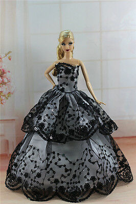 Fashion Princess Dress Wedding Clothes/Gown For 11.5in.Doll S290