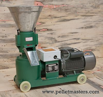 """4hp 5"""" Biomass Pellet Mill: Make feed or fuel pellets. In stock. Free Shipping!"""