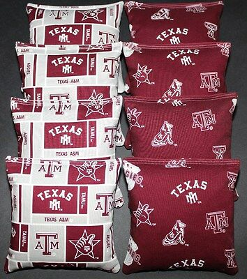 Incredible Cornhole Bean Bags W Texas Am University Aggies Fabric On Ibusinesslaw Wood Chair Design Ideas Ibusinesslaworg