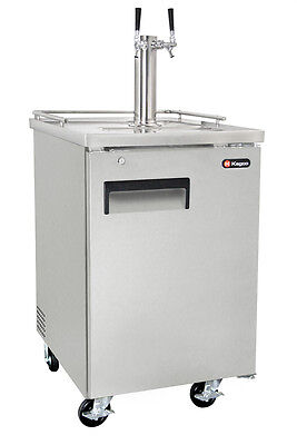 Kegco Commercial Grade Homebrew Kegerator Dual Tap Keg Dispenser Stainless Steel
