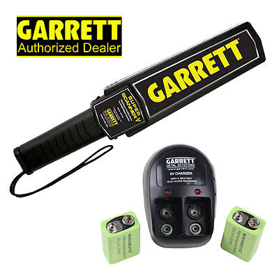 Garrett Super Scanner V Hand Held Metal Detector w/ 9V Rechargeable Battery Kit