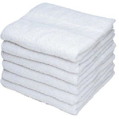 48 new white georgia mills brand econ gym salon hand towels 15x25 kitchen towels