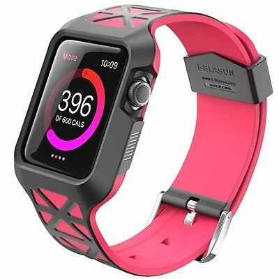 Apple Watch Case 42 mm Hybrid Protective Bumper Shock Proof Ultra Slim Pink New