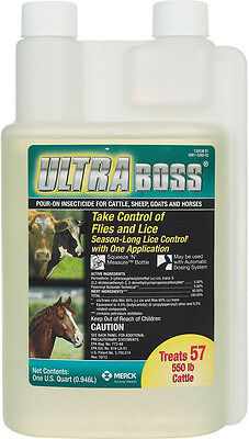 Quart Ultra Boss Permethrin Insecticide Pour-On for Cattle, Sheep, Goats and