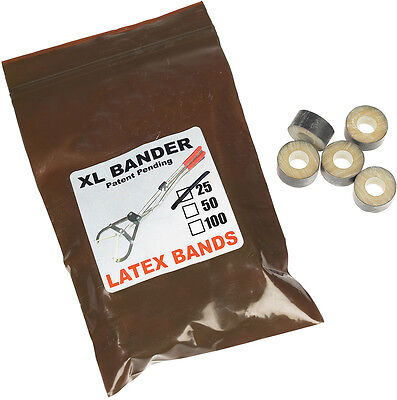 Wadsworth Manufacturing XL Bander Latex Rings 25 ct