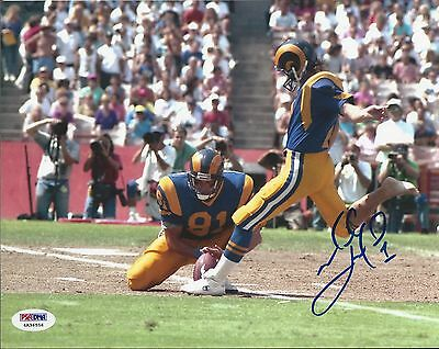 Mike Lansford Los Angeles Rams Signed 8x10 PSA/DNA 4A36556