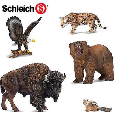 SCHLEICH World of Nature AMERICAS - Choose for 42 different figures all with Tag