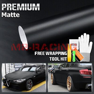 **Matte Flat Black Vinyl Film Wrap Sticker Decal Bubble Free Air Release Channel