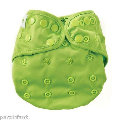 NEW DESIGN Bumkins Snap One-Size Cloth Diaper Cover - Solid Green