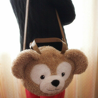 New Disney Duffy Bear Face Plush Toy Tote Bag Handbag Shoulder Bag Large Gift