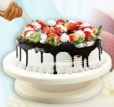 Durable Turnable Wedding Birthday Cake Plate Turntable Cakes Decorating Stands