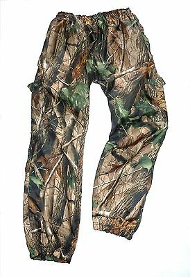 STEALTH TREE CAMO WATERPROOF WINDPROOF TROUSERS Mens hunters fishing bottoms